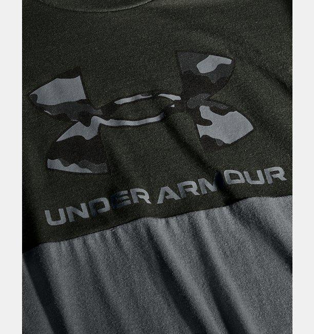 Mens UA Camo Big Logo Short Sleeve