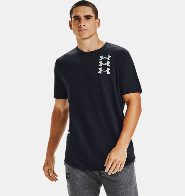 Mens UA Triple Stack Logo Short Sleeve