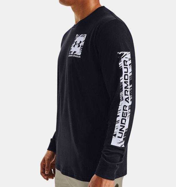 T-shirt à manches longues UA Box Logo Sketch pour homme