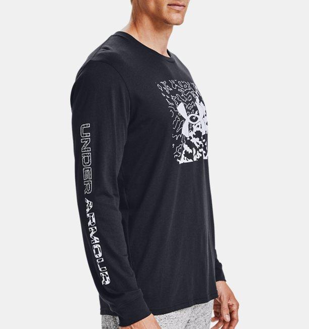 Mens UA Camo Box Logo Long Sleeve