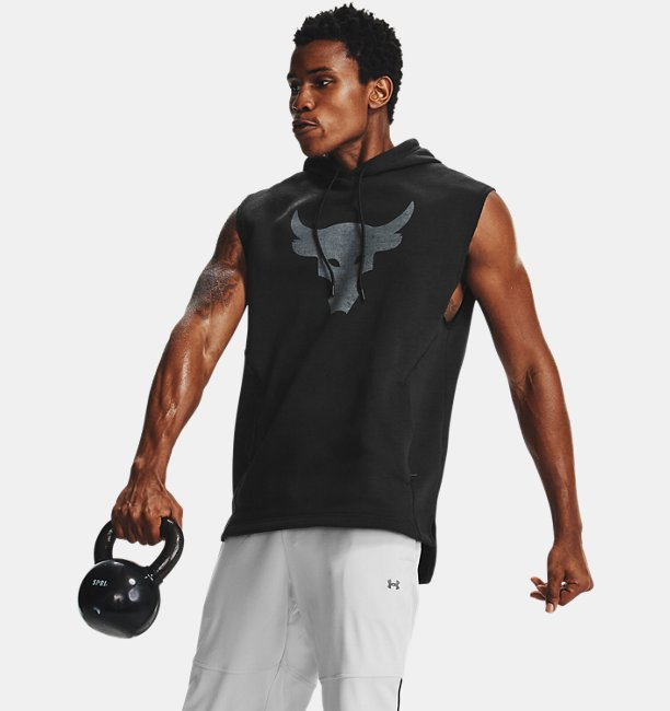 Mens Project Rock Charged Cotton® Sleeveless Hoodie