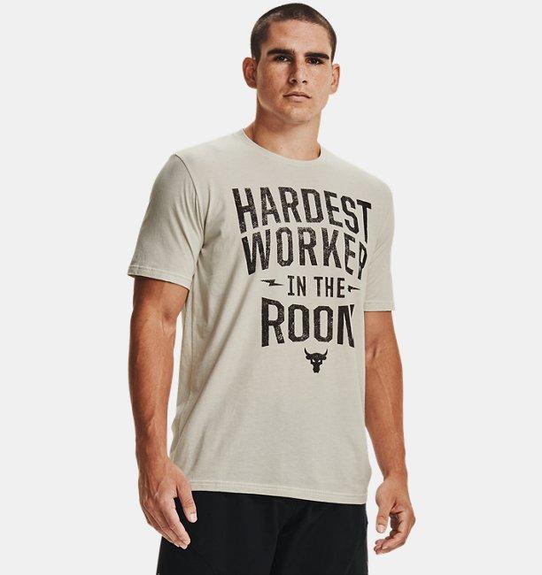 Mens Project Rock Hardest Worker Short Sleeve