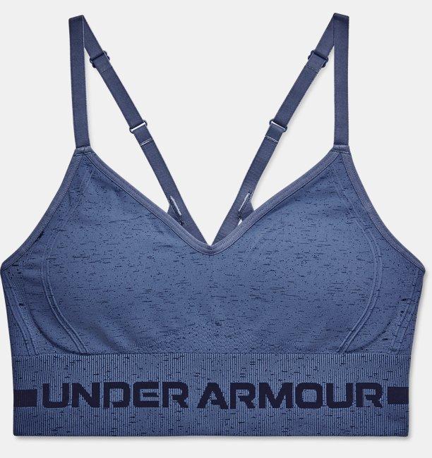 UAシームレス ロー ロング ヘザー ブラ(トレーニング/WOMEN)