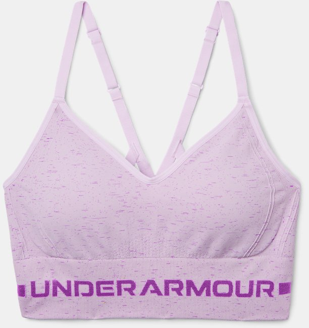 Womens UA Seamless Low Long Heather Sports Bra