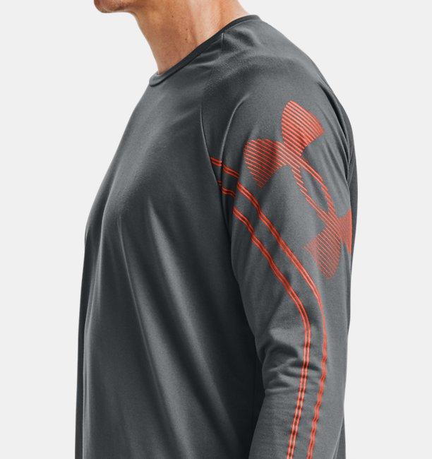 Mens UA Tech™ Gradient Logo Long Sleeve