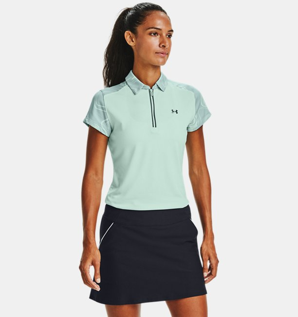Womens UA Zinger Zip Short Sleeve Polo