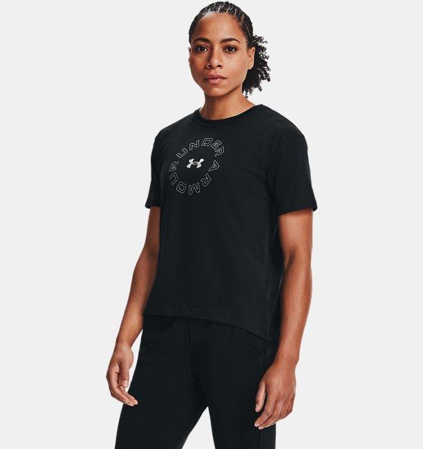 Womens UA Wordmark Graphic Short Sleeve