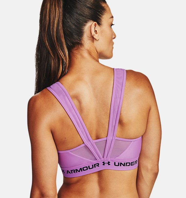 Womens Armour® Mid Crossback MF Sports Bra