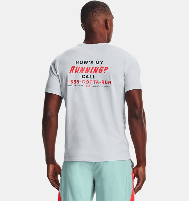 Playera Manga Corta UA Hows My Running para Hombre