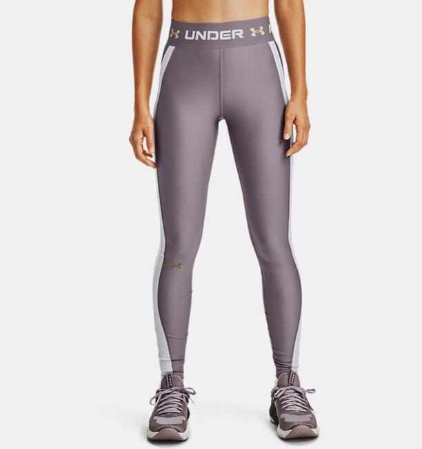 Damen HeatGear® Armour Wordmark Waistband Leggings