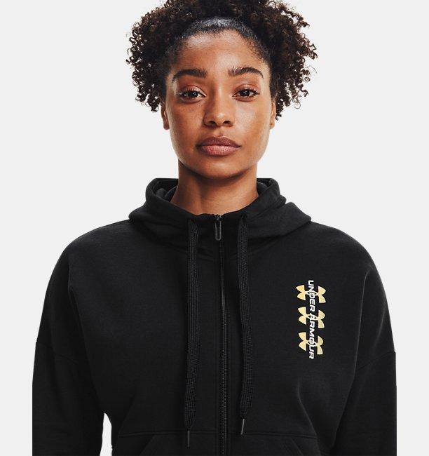 Womens UA Rival Fleece Multilogo Full Zip Hoodie