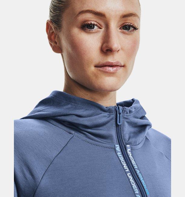 Womens UA Rival Terry Taped Full Zip Hoodie