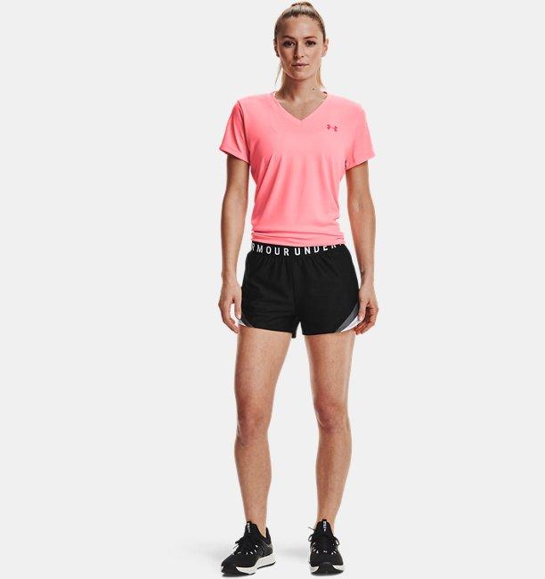 Womens UA Play Up 3.0 Tri Color Shorts