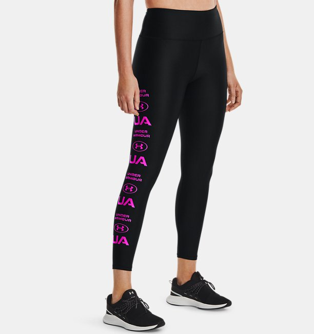 Women's HeatGear® Armour No-Slip Waistband Graphic Ankle Leggings