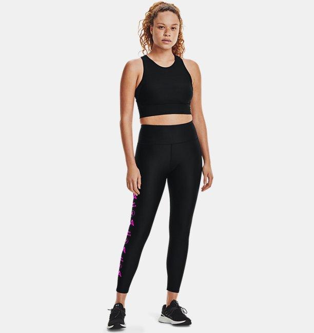 Womens HeatGear® Armour No-Slip Waistband Graphic Ankle Leggings