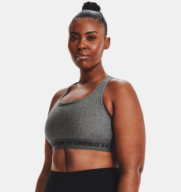 Womens Armour® Mid Crossback Heather Sports Bra
