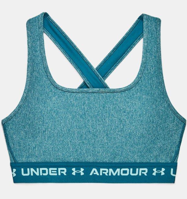 Sujetador deportivo veteado Armour® Mid Crossback para mujer