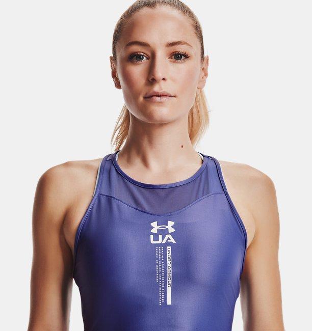 Damen UA Iso-Chill Crop-Tanktop