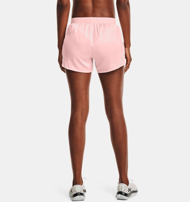 Womens UA Fly-By 2.0 Shine Shorts