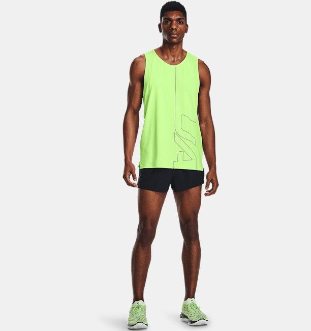 Mens UA Launch Run Split Shorts