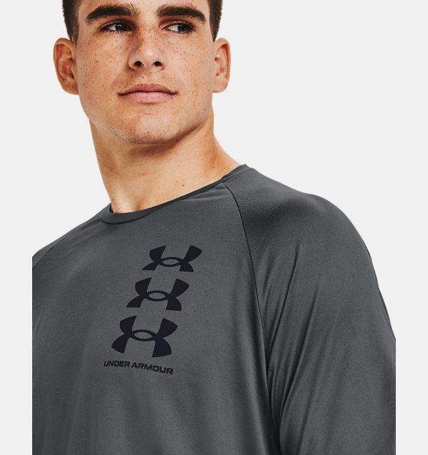 Mens UA Tech™ Triple Logo Short Sleeve