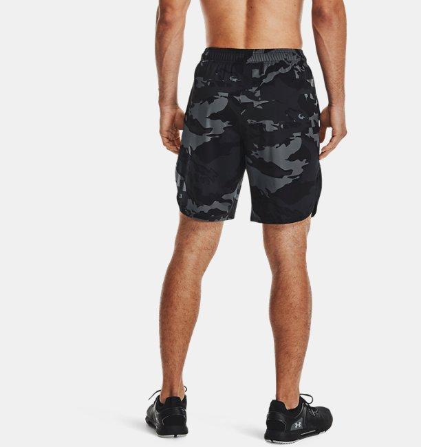 Mens UA Train Stretch Camo Shorts