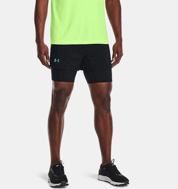 Erkek UA RUSH™ 2si 1 arada Koşu Şortu