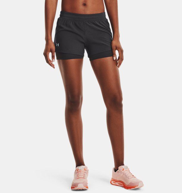 Shorts UA Iso-Chill Run 2-in-1 da donna