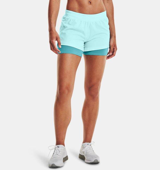Womens UA Iso-Chill Run 2-in-1 Shorts