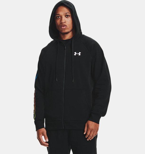 Mens UA Rival Fleece Lockertag Full Zip Hoodie