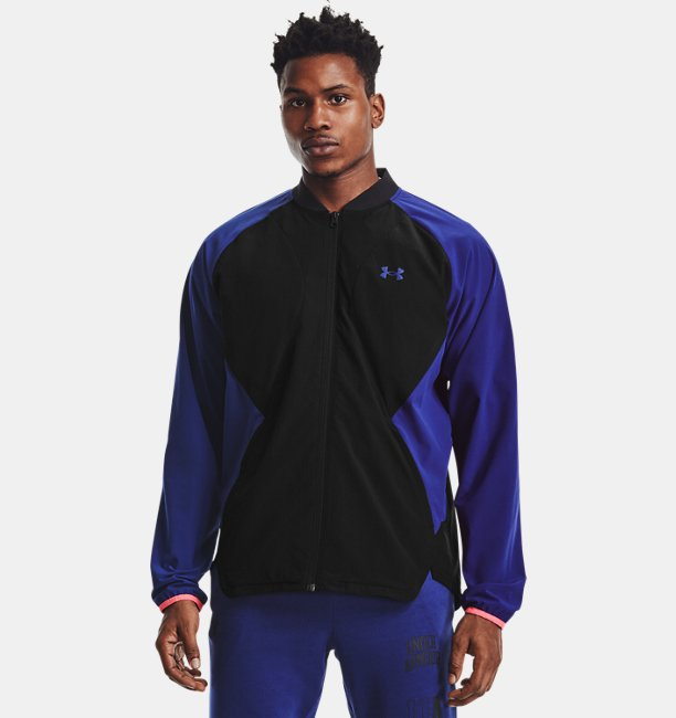 Mens UA Stretch Woven Bomber Jacket