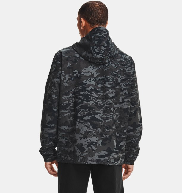 Mens UA Sportstyle Camo Windbreaker Jacket