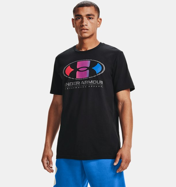 Mens UA Multi Color Lockertag Short Sleeve