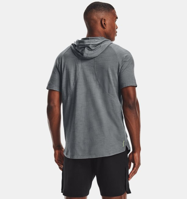 Mens Project Rock Charged Cotton® Short Sleeve Hoodie
