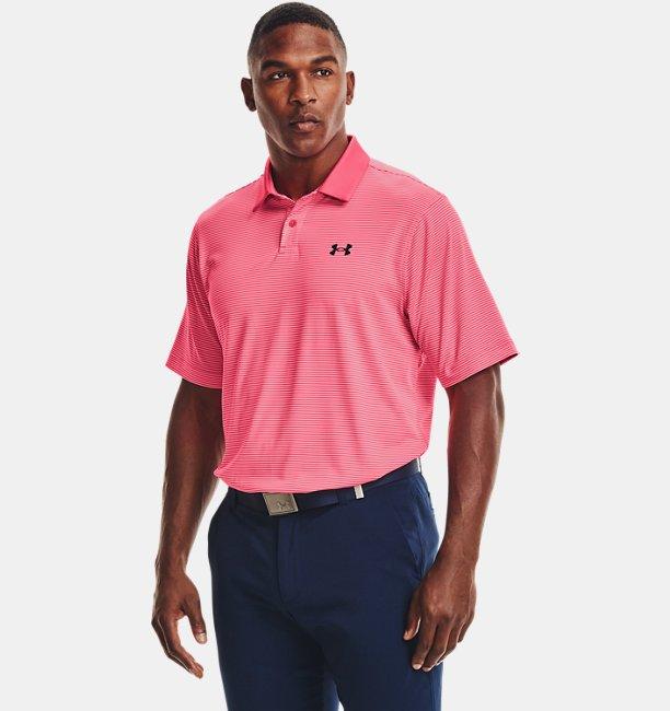 Mens UA Performance Stripe Polo