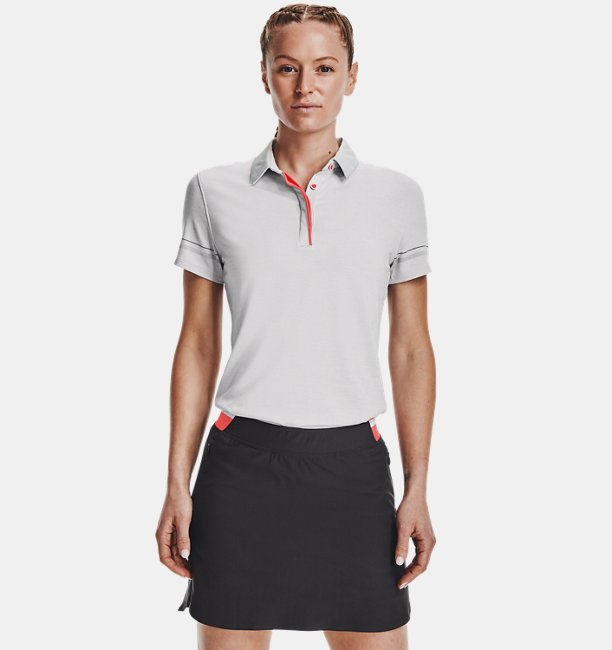 Womens UA Zinger Heathered Short Sleeve Polo
