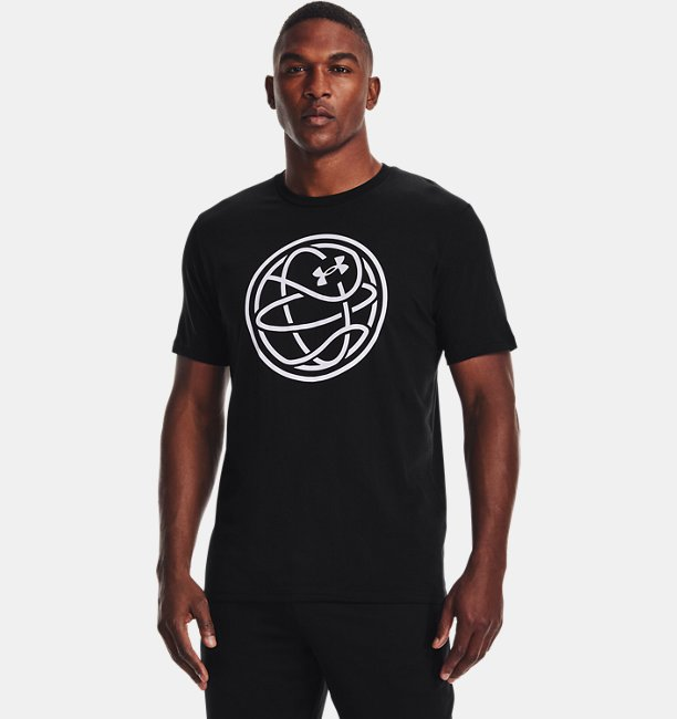 Mens UA Hoops Logo T-Shirt
