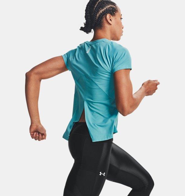 Haut à manches courtes UAIso-Chill Run pour femme
