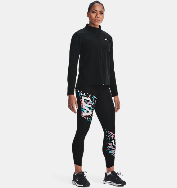 Womens UA Run Floral 7/8 Tights