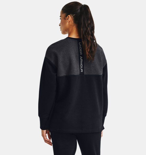 Womens UA Rival Fleece Embroidered Crew