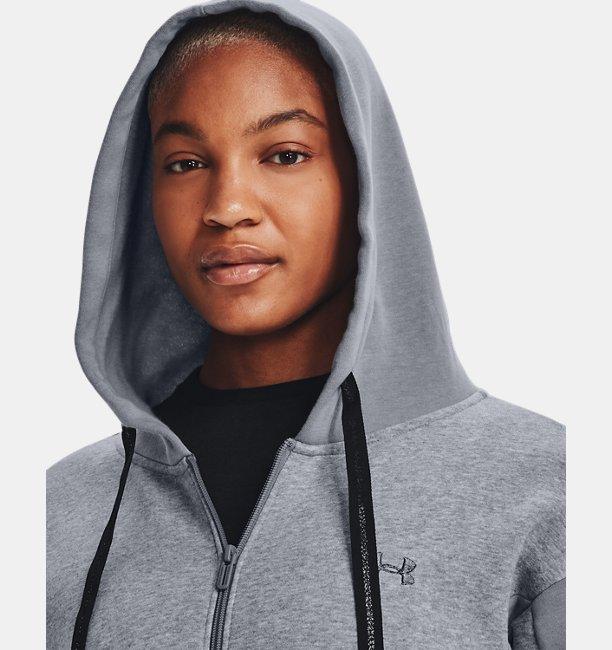 Womens UA Rival Fleece Embroidered Full Zip Hoodie