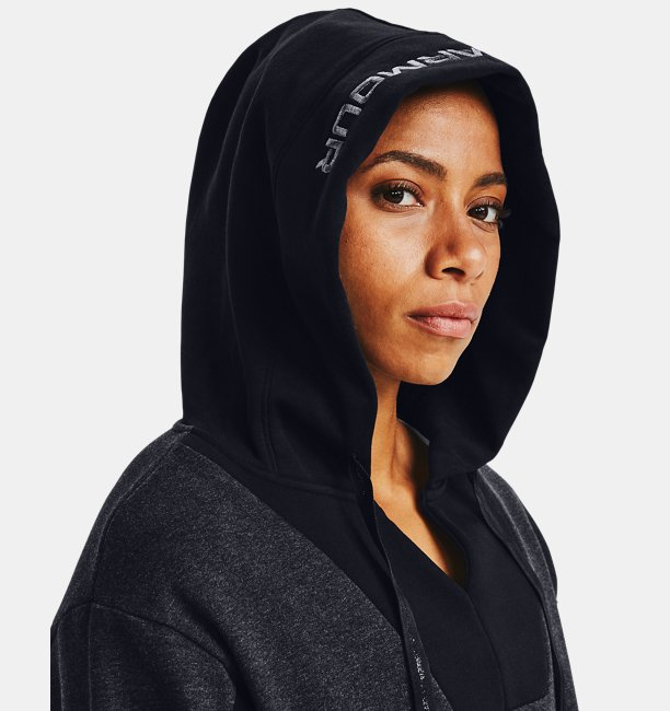 Womens UA Rival Fleece EMB Hoodie