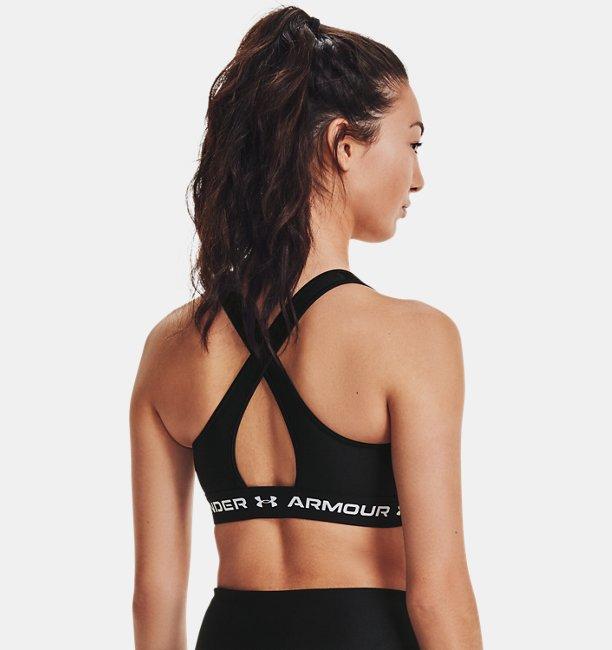 Womens Armour® Mid Crossback Matte/Shine Sports Bra