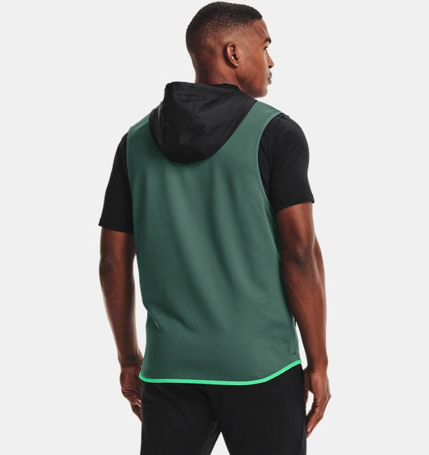 Mens Armour Fleece® Storm Hooded Vest