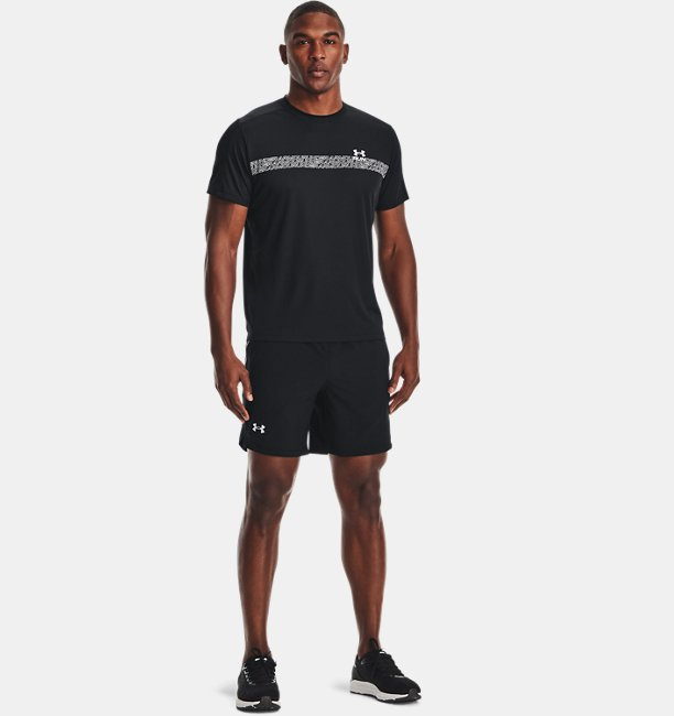 Mens UA Launch Run 7 Tape Shorts