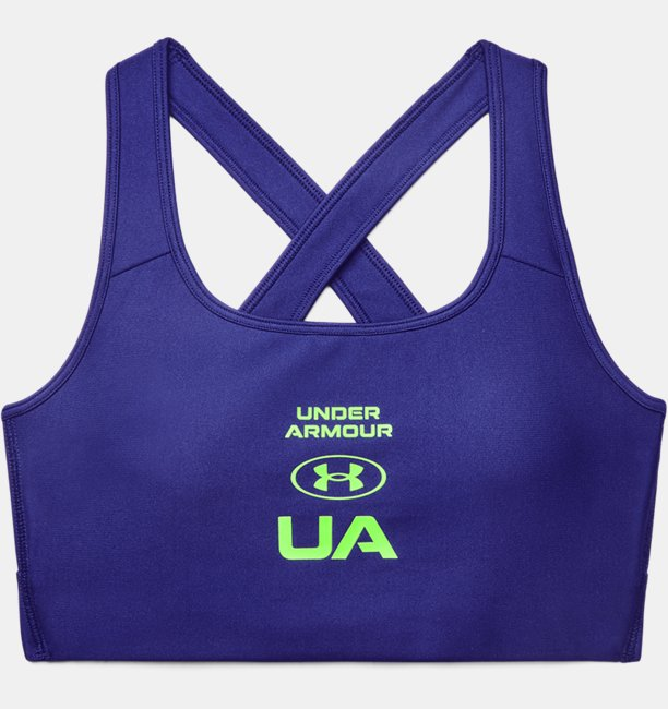 Womens Armour® Mid Crossback Graphic Sports Bra