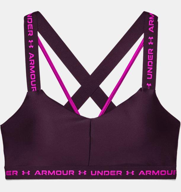 Womens UA Crossback Low Shine Sports Bra