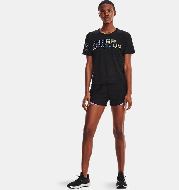 Womens UA Play Up 3.0 Geo Shorts