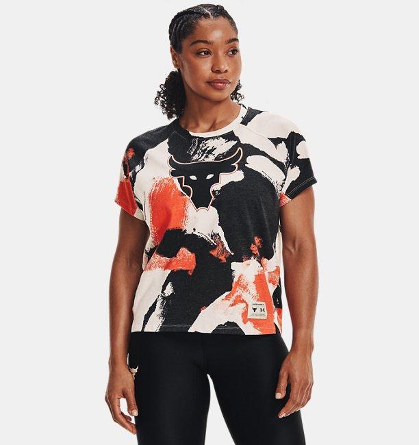 Womens Project Rock Print Short Sleeve