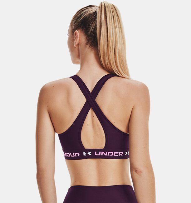 Womens Armour® Mid Crossback 3-Color Sports Bra
